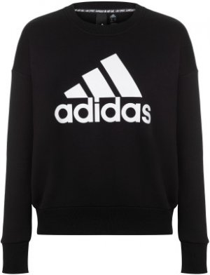 Свитшот женский adidas Badge Of Sport, размер 38-40. Цвет: черный