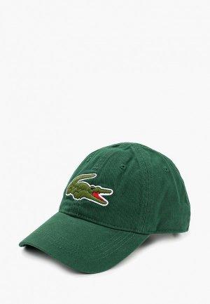 Бейсболка Lacoste. Цвет: зеленый