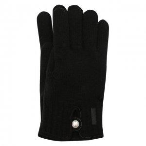 Шерстяные перчатки Paul&Shark. Цвет: чёрный