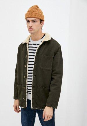 Куртка джинсовая Mossmore. Цвет: хаки