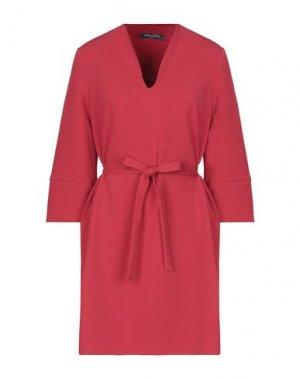 Короткое платье SANDRO FERRONE. Цвет: красный