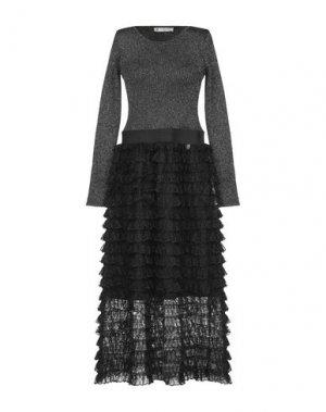 Длинное платье MANGANO. Цвет: серебристый