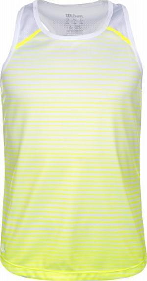 Майка для девочек Team Striped, размер 118-124 Wilson. Цвет: желтый