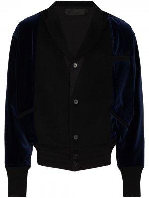 Бархатная куртка-бомбер Haider Ackermann. Цвет: черный