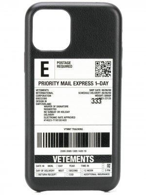 Чехол для iPhone 11 Pro Max Vetements. Цвет: черный