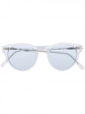 Солнцезащитные очки с затемненными линзами Eleventy. Цвет: белый