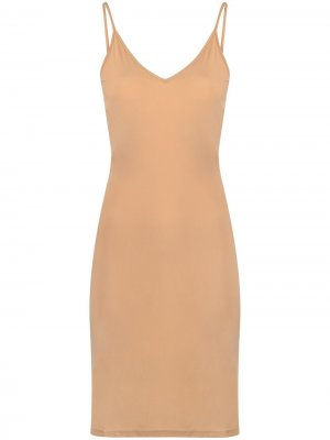 Платье мини на тонких бретелях Jil Sander. Цвет: нейтральные цвета
