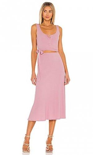 Платье malone Lovers + Friends. Цвет: розовый