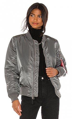 Куртка бомбер ma-1 ALPHA INDUSTRIES. Цвет: серый