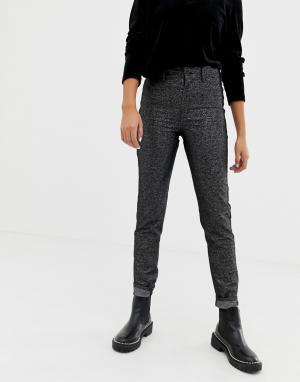 Черные блестящие джинсы с завышенной талией из смесового органического хлопка -Черный цвет Cheap Monday