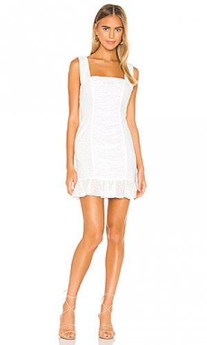 Мини платье darling Nookie. Цвет: белый