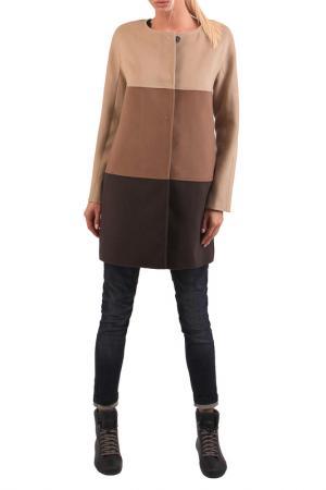 Пальто JUNONA. Цвет: brown