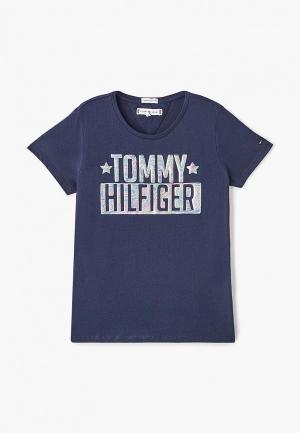 Футболка Tommy Hilfiger. Цвет: синий