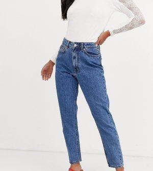 Синие укороченные джинсы в винтажном стиле с завышенной талией -Синий Vero Moda Petite