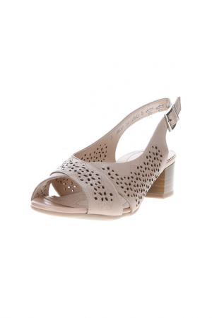 Туфли открытые Alpina. Цвет: светло-розовый