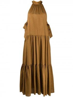 Ярусное платье Marysia. Цвет: коричневый