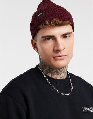 Бордовая шапка-бини Foli-Красный Napapijri