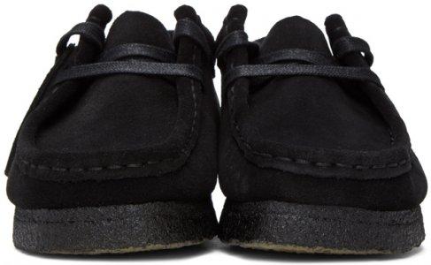Black Suede Wallabee Moccasins Clarks Originals. Цвет: black suede