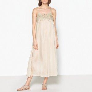Платье LaRedoute. Цвет: бежевый