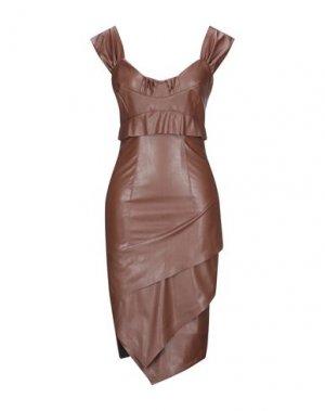 Платье миди EUREKA by BABYLON. Цвет: какао