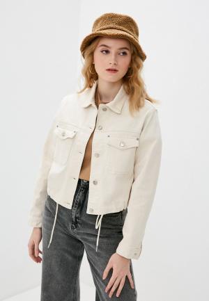Куртка джинсовая Pepe Jeans TIFFANY ROPE. Цвет: бежевый