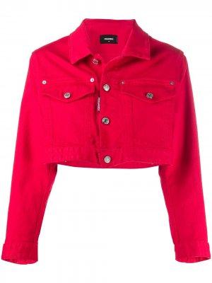 Укороченная джинсовая куртка Icon Dsquared2. Цвет: красный