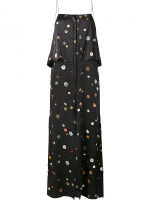Многослойное платье на бретелях Edun. Цвет: чёрный