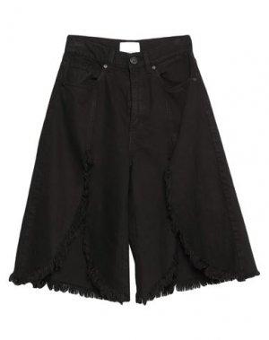 Джинсовые брюки-капри GAëLLE Paris. Цвет: черный