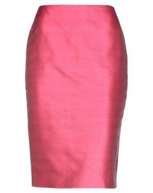 Юбка до колена BOTONDI COUTURE. Цвет: розовый