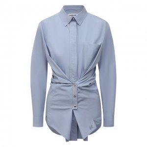 Хлопковая рубашка Kenzo. Цвет: голубой
