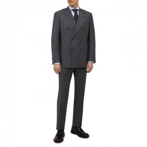 Шерстяной костюм Canali. Цвет: серый