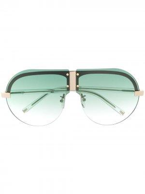 Солнцезащитные очки-авиаторы Tulip из коллаборации с Linda Farrow Matthew Williamson. Цвет: белый