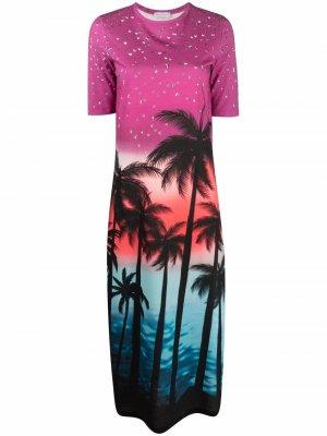 Платье-футболка с принтом Faith Connexion. Цвет: розовый