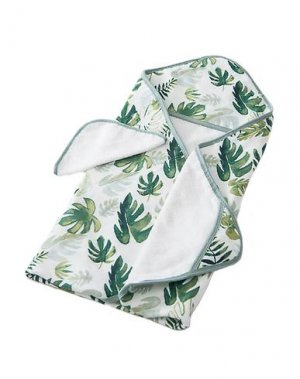 Банный халат LITTLE UNICORN. Цвет: зеленый