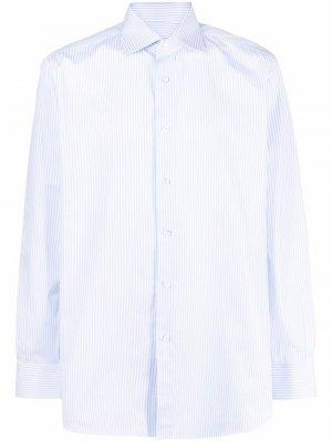 Рубашка в полоску Brioni. Цвет: синий
