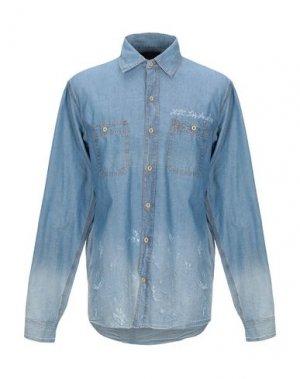 Джинсовая рубашка HTC. Цвет: синий