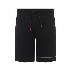 Хлопковые шорты HUGO. Цвет: чёрный