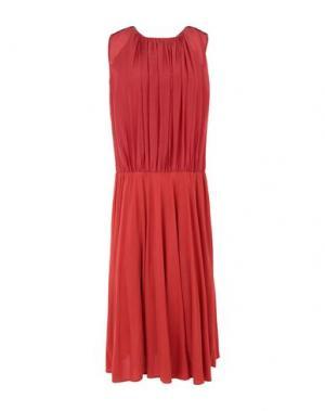 Платье до колена BOSS HUGO. Цвет: ржаво-коричневый