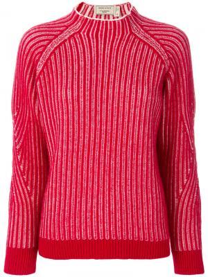 Пуловер Chunky Maison Kitsuné. Цвет: красный