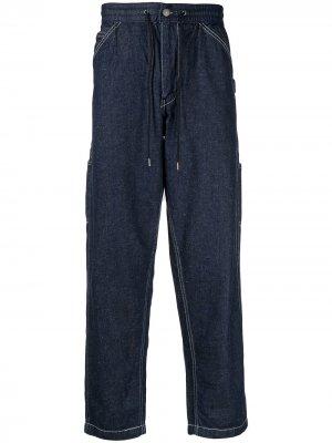 Levis брюки с завышенной талией и кулиской Levi's. Цвет: синий
