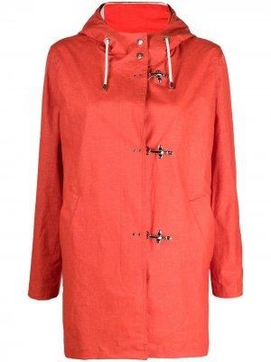 Дождевик с капюшоном и кулиской Fay. Цвет: оранжевый
