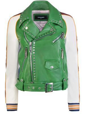 Кожаная куртка DSQUARED2. Цвет: разноцветный