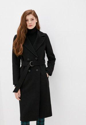Пальто Снежная Королева. Цвет: черный