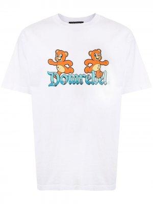 Футболка с принтом и логотипом DOMREBEL. Цвет: белый
