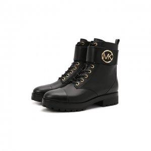 Кожаные ботинки Tatum MICHAEL Kors. Цвет: чёрный