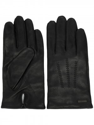 Logo-plaque gloves BOSS. Цвет: черный