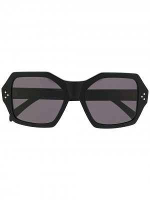 Солнцезащитные очки в квадратной оправе Celine Eyewear. Цвет: черный