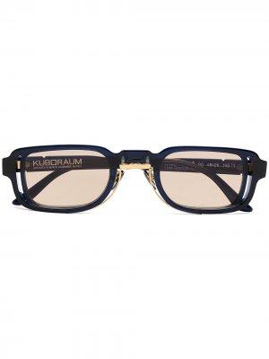 Солнцезащитные очки N12 в квадратной оправе Kuboraum. Цвет: синий