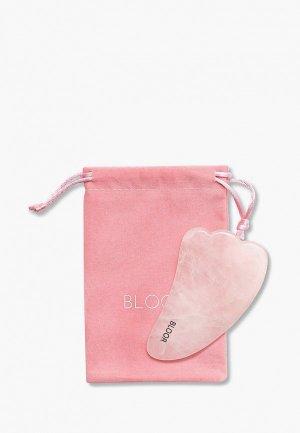 Массажер для лица Bloor скребок гуаша Лапа из натурального розового кварца (цельный камень). Цвет: розовый