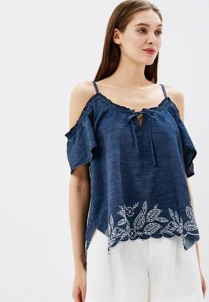 Блуза Deeluxe. Цвет: синий